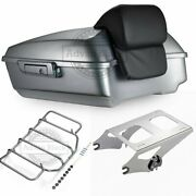 Brilliant Silver Chopped Tour Pak Luggage For 97-20 Harley Street Road Glide