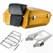 Hard Candy Gold Flake Chopped Tour Pack For 97-2020 Harley Street Road Glide
