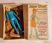 """1960's Marx Jane West The Moveable Cowgirl 2067 W/ Accessories Box 11"""""""