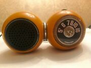 Vintage Rare Working Toshiba Solid State Transistor Radio Rp-12 Barbell - Gold