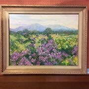 """Oil Painting Floral By Debbie Gold Sante Fe, Nm 48 3/4""""x39"""" F"""