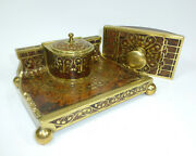 Art Nouveau Writing Set Inkwell Ink Blotter Erhard And Sohne About 1900
