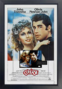 Grease Autographed Signed Movie Poster By John Travolta And Olivia Newton-john Jsa