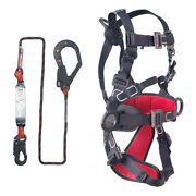 Fall Arrest Safety Insulated Full Body Harness With Energy Absorber Lanyard