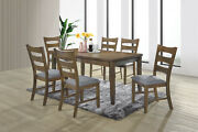 Kings Brand Furniture - 7-piece Wilson Wood Kitchen Dining Table And 6 Chairs