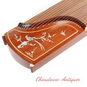 Raden Mother-of-pearl Inlay Craft 64 21-string Guzheng Chinese Zither Harp2867