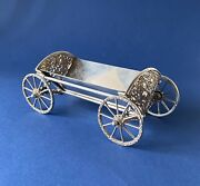 Novelty Solid Silver 'after Eight' Carriage/holder - 1969 - Harrods Ltd