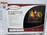 Pleasant Hearth 18 In. Vented Natural Gas Fireplace Log Set 45,000 Btu New