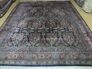 8and039 X 10and039 Vintage Hand Made Indian Wool Rug Hand Knotted Carpet Floral Organic