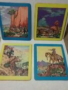 4 Vtg Western Themed Frame Tray Puzzles-art By The Hollings-10 3/4 X 8 3/4-rare