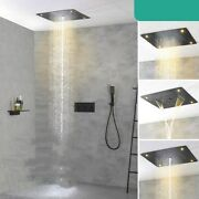 Led Rainfall Shower Faucet Rain Shower Set Waterfall Spout Tap Thermostatic