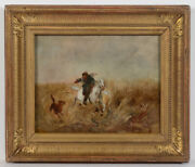 Alfred Von Wierusz-kowalski 1849-1915 Wolf Huntingoil On Canvas Late 19th C