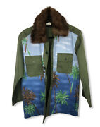 Nightmarket.it Women Jacket Size Xs-s New Embroidery Palm Trees