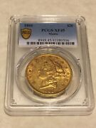 1866 Xf45 Pcgs 20 Liberty Double Eagle Gold Coin Pq Great Appeal