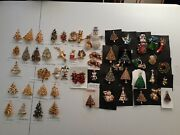 Vintage/modern Christmas Brooches 54 Pieces 27 Signed Book Pieces - Reduced 50