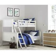 Farmhouse Convertible Twin-over-full Size White Wooden Bed Frame Bunk Beds
