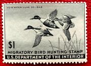 1945 Us Federal Duck Stamps Scrw12 Mint Nh/og Well Centered Cv100