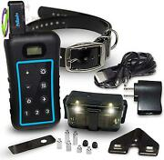 Dog Training Collar With Remote – Led Night Light, Removable Shock, Vibration,