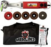 King Arthurand039s Tools Merlin2 Variable Speed Mini Angle Grinder Universal Carving