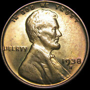 1938-s/s Rpm-001 Lincoln Cent Wheat Penny ---- Gem Bu++ Condition ---- J678