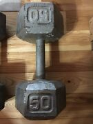 1-50 Lb Cast Iron Hex Dumbbell - Used