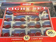 Case Ih Farmall Tractor 20-piece Decorative Light Set For Patio Or Holidays