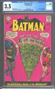 Batman 171 Cgc 3.5 1965 1st Silver Age Riddler - Great Looking Comic Rare