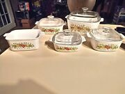 Vintage Corning Ware Spice Of Life Set Rare 70's Collectible