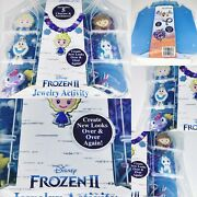 Frozen 2 Necklace Jewelry Activity Set Colorful Beads Charms Plastic Carry Case