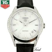 Tag Heuer Carrera White Shell Dial Wv2212 Automatic For Lady 021425-1