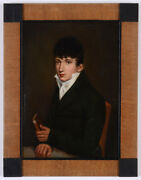 Sigmund Ferdinand V. Perger Portrait Of A Young Gentleman Small Oil On Tin