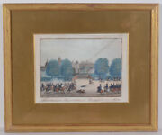 French Cavalry Attacking Austrians At The City Gate Of Frankfurt A.m. Gouache