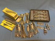 Marklin Train Tracks, Lot Of 79 Pieces, H-o Scale, Some With Boxes