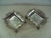 Large Pair Of Arts And Crafts Omar Ramsden Trencher Salts 415g London 1935