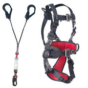 Fall Arrest Electrical Insulated Harness And Energy Absorber Y Lanyard Snap Hook