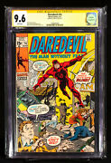Daredevil 74 Marvel 1971 Cgc 9.6 Ss White Pages Signed Stan Lee Very Htf