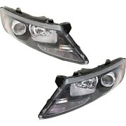 Headlights Lamps Set Of 2 Left-and-right 921022t131, 921012t131 Lh And Rh Pair