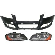 Set Of 3 Headlights Lamps Left-and-right 8p0941004bd 8p0941003bd 8p0807105egru