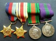 Gb Wwii Medals, Great Britain , Miniature