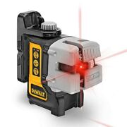 Dewalt 50 Ft.and 165 Ft Red Self-leveling 3-beam Cross Line Laser Level Aa Battery