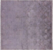 6and039 Square Overdyed Full Pile Hand Knotted Rug - Q6490