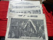 Five Vintage Large Early Photos Of Confederate Officer's And Enlisted Soldiers
