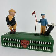 Vintage/retro Style Golf Birdie Putt Mechanical Coin Bank Cast Iron Collectible