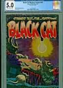 Black Cat Mystery 49 Cgc 5.0..clean As A Whistle 1954 Harvey Nostrand