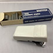 Vintage Stapler From Mid Century Small White Bostitch And Staples