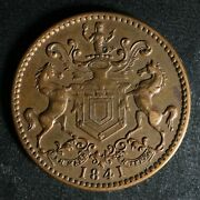Nf-1b3 Rutherford Bros. 1841 Newfoundland Canada Token Nfld Cleaned Breton 952