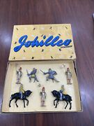 Vintage Lead Johillco John Hill And Co Knights And Crusaders  Boxed Set New