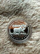 1985 Canada Proof Silver Dollar 100th Anniversary National Parks Moose