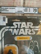 Star Wars 1978 Darth Vader Kenner Afa 70 And 1 Wax Pack Sealed Topps 1977