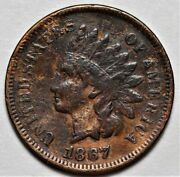 1867 Indian Head Cent Us 1c Penny Coin Flat Rate Shipping Lot 211